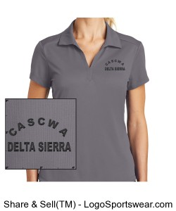 CASCWA - DELTA SIERRA SECTION WOMENS NIKE POLO SHIRT Design Zoom